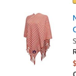 NCAA WOMENS AUBURN PONCHO NEVER WORN.